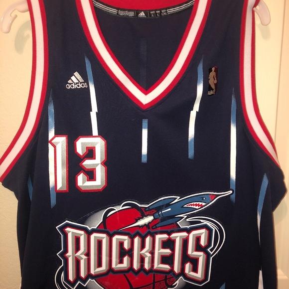 the best attitude fb82c 47d0c James Harden Rockets Throwback Jersey